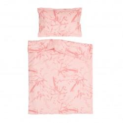Афродита Розово - 100% памук бебешки спален комплект (торба и калъфка)
