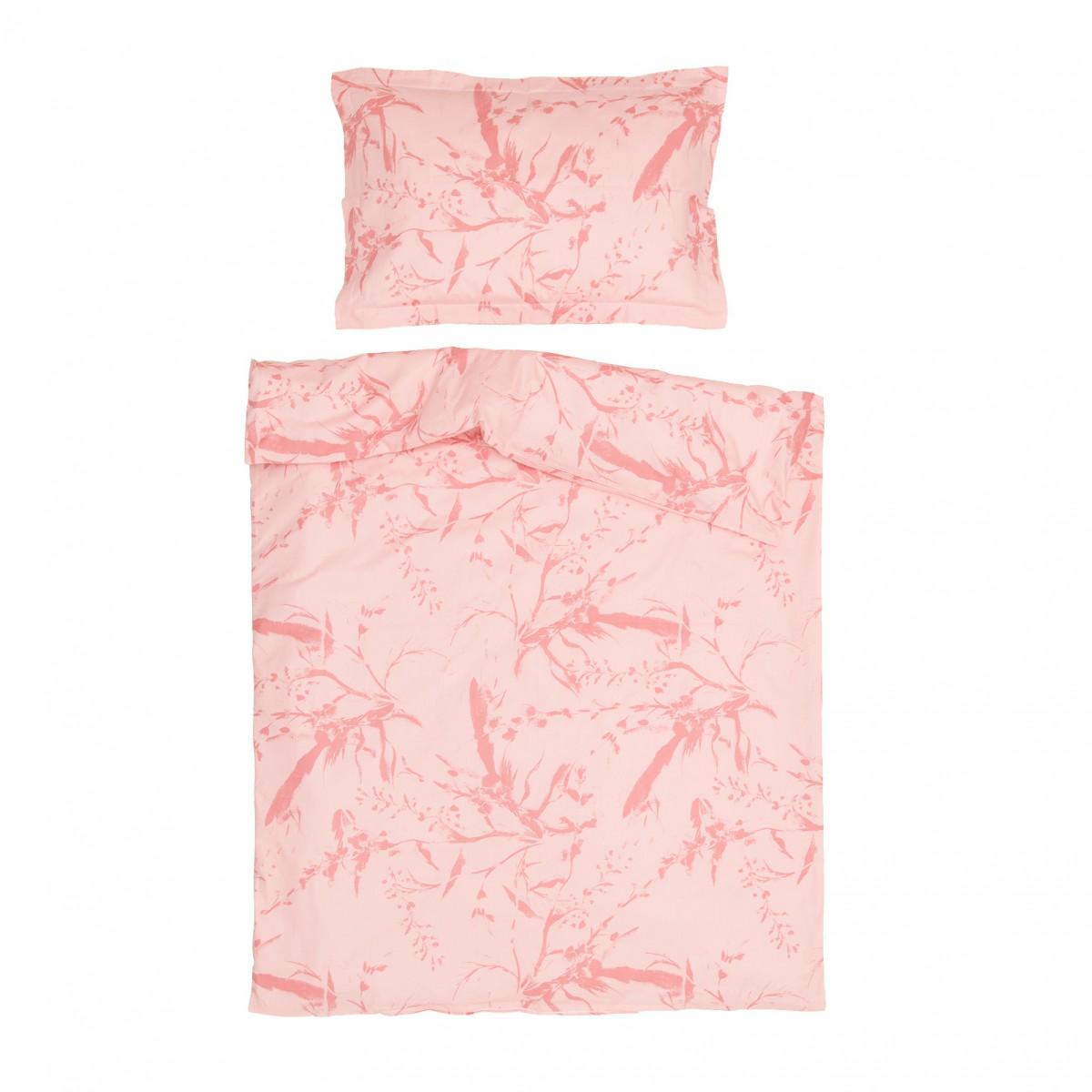 Parure de lit avec housse de couette et taie d/'oreiller pour lit de b/éb/é//enfant 100/% coton Rose