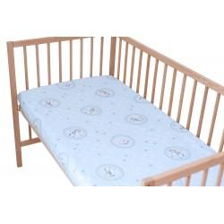 Ours et cheval / Lot de 2 Draps Housse - 100% Coton linge de lit pour bébé et enafant
