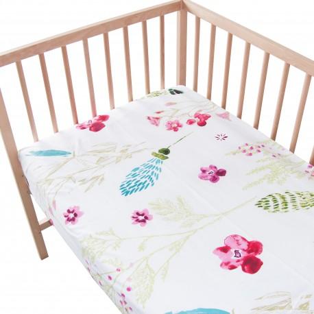 Sabrina / Lot de 2 Draps Housse - 100% Coton linge de lit pour bébé et enafant