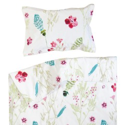 Сабрина - 100% памук бебешки спален комплект (торба и калъфка)