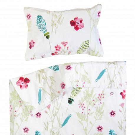 Sabrina - 100% cotton cot / crib baby set (duvet cover and pillow case)