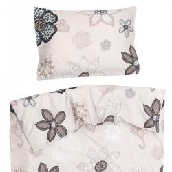 Monna - 100% Coton parure de lit pour bébé (Housse de couette et Taie d'oreiller)