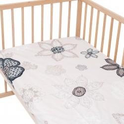 Monna / Lot de 2 Draps Housse - 100% Coton linge de lit pour bébé et enafant