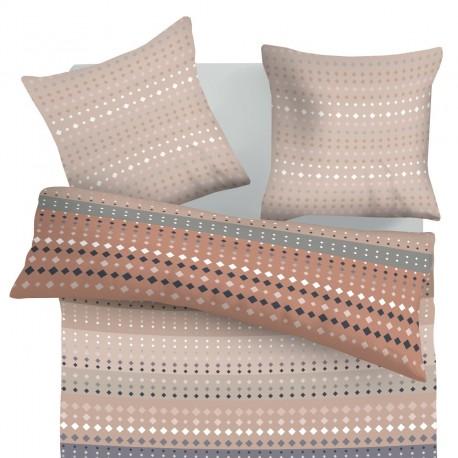 Ophelia - 100% Coton Parure de Lit (Housse de couette et Taies d'oreiller)