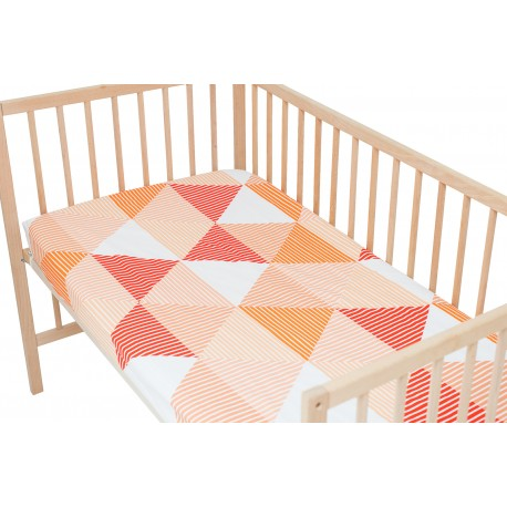 Arlette Orange / Pack of 2 Fitted Sheet - 100% Cotton Cot / Crib Bedding