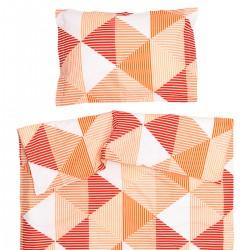 Арлет Оранжево - 100% памук бебешки спален комплект (торба и калъфка)