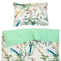 Афродита - 100% памук бебешки спален комплект (торба и калъфка)