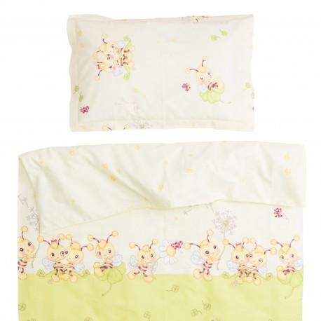 Les abeilles 100 coton parure de lit pour b b housse - Housse de couette pour lit bebe ...
