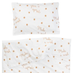 Les petites abeilles - 100% Coton parure de lit pour bébé (Housse de couette et Taie d'oreiller)