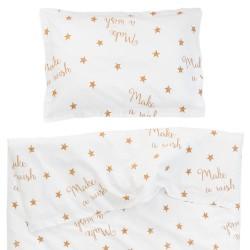 Make a wish (Желание) - 100% памук бебешки спален комплект (торба и калъфка)