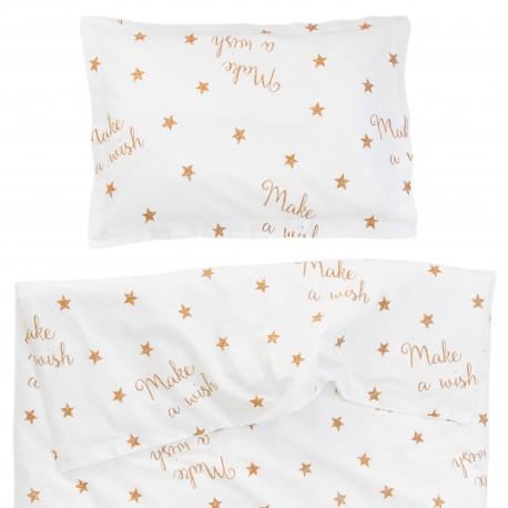 Baby Make a wish - 100% Coton parure de lit pour bébé (Housse de couette et Taie d'oreiller)