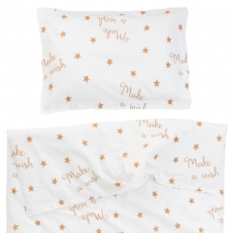 Baby Make a wish - 100% Cotton Cot / Crib Set (Duvet Cover & Pillow Case)
