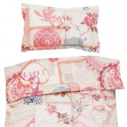 Vintage Love - 100% Coton parure de lit pour bébé (Housse de couette et Taie d'oreiller)