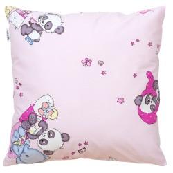 Panda et ses amis Pati'Chou coussin et 100% coton taie décoratif bébé et enfant