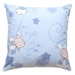 Baby Lambs (Blue) Pati'Chou cushion and 100% cotton cover decorative baby and kid