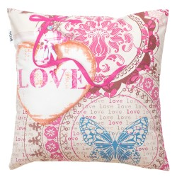 Vintage love cushion and 100% cotton cover decorative baby and kid