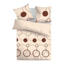 Тристан - 100% памук спален комплект (плик и калъфки), бежово
