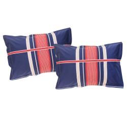 Denim Bleu - Taies d'oreiller ou traversin / 100% Coton