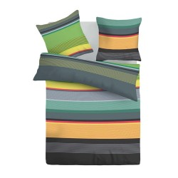 Color Stripes - 100% Cotton Bed Linen Set (Duvet Cover & Pillow Cases)