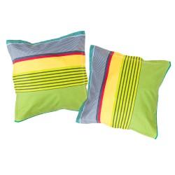 Rayures colorées - Taies d'oreiller ou traversin / 100% Coton