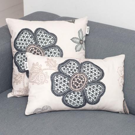 Monna coussin et 100% coton taie décoratif