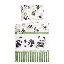 Bamboo panda - 100% Cotton Cot / Crib Set (Duvet Cover & Pillow Case)