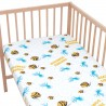 Fish and Jellyfish friends / Pack of 2 Fitted Sheet - 100% Cotton Cot / Crib Bedding