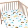 Медуза и риба приятели - Комплект 2 бр. чаршаф с ластик за бебе и деца / 100% Памук