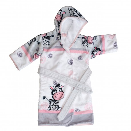 Zebra Kids Hooded towel bathrobe Pati'Chou