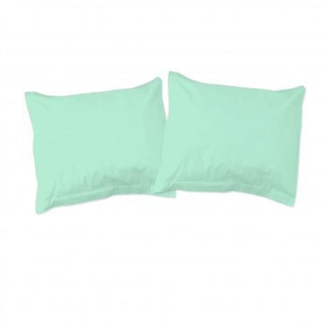 Bleu Aqua (Les Papillons) - Taies d'oreiller / 100% Coton