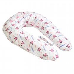 Pati'Chou Cuscino per allattamento e maternità 180 cm e federa di 100% cotone Fenicottero