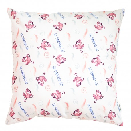 Fenicottero- Pati'Chou cuscino е 100% cotonе federa decorativa bambino
