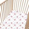 Flamant / Lot de 2 Draps Housse - 100% Coton linge de lit pour bébé et enafant