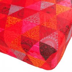 Morocco - Drap Housse / 100% Coton Linge de Lit