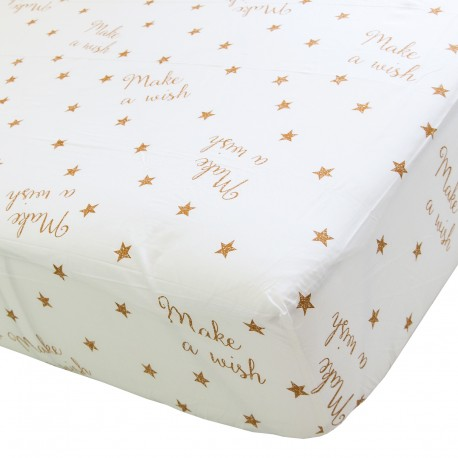 Make a wish - Fitted Sheet / 100% Cotton Bedding