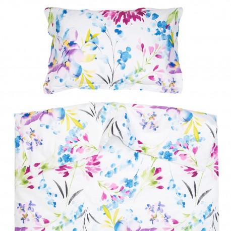 Април - 100% памук бебешки спален комплект (торба и калъфка)