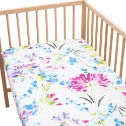 April Fitted Sheet Pati'Chou 100% Cotton floral pattern for baby and kid bed