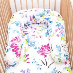 Pati'Chou nursing and maternity pillow 180 cm and 100% cotton pillowcase April