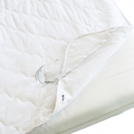 Pati'Chou - Alèse Imperméable Silencieux, Protège Housse Matelas tissu 100% coton pour lit bébé et enfant