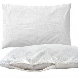 Pati'Chou Set of 2 Waterproof Pillow Protectors, 100 cotton outer fabric