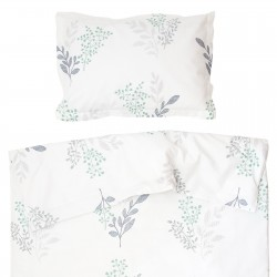 Victoria - 100% Coton parure de lit pour bébé (Housse de couette et Taie d'oreiller)