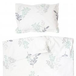 Виктория - 100% памук бебешки спален комплект (торба и калъфка)