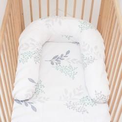 Pati'Chou coussin d'allaitement maternité, réducteur de lit 180 cm et 100% coton taie Victoria