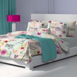 Mon Amour - 100% памук спален комплект (плик и калъфки)