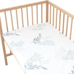 Victoria Drap housse Pati'Chou 100% Coton motif fleurs pour lit bébé et enafant