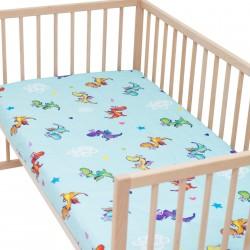 Дракони - Комплект 2 бр. чаршаф с ластик за бебе и деца / 100% Памук