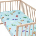 Dragons / Pack of 2 Fitted Sheet - 100% Cotton Cot / Crib Bedding