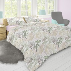 Rosemary - 100% Cotton Bed Linen Set (Duvet Cover & Pillow Cases)