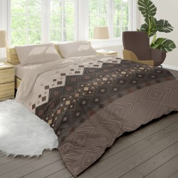 Coffee - 100% Cotton Bed Linen Set (Duvet Cover & Pillow Cases)